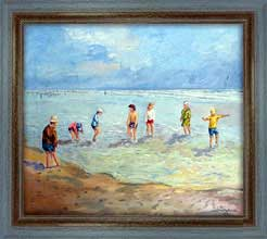 Summer. Children on The Beach