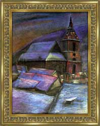 The Black Church in a Winter Night